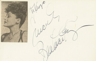 BEATRICE KAY - AUTOGRAPH NOTE SIGNED