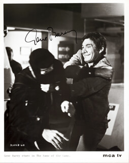 GENE BARRY - AUTOGRAPHED SIGNED PHOTOGRAPH