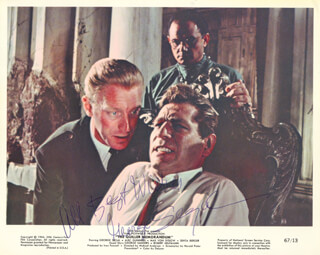 GEORGE SEGAL - AUTOGRAPHED SIGNED PHOTOGRAPH