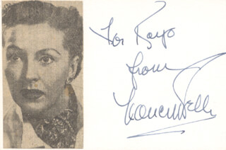 NANCY KELLY - INSCRIBED SIGNATURE