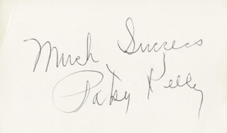 PATSY KELLY - AUTOGRAPH SENTIMENT SIGNED