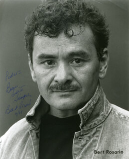 BERT ROSARIO - INSCRIBED PRINTED PHOTOGRAPH SIGNED IN INK 11/1988