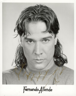 Autographs: FERNANDO ALLENDE - INSCRIBED PRINTED PHOTOGRAPH SIGNED IN INK