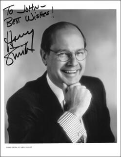 HARRY SMITH - AUTOGRAPHED INSCRIBED PHOTOGRAPH