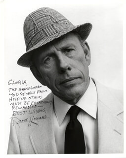 RANCE HOWARD - AUTOGRAPHED SIGNED PHOTOGRAPH