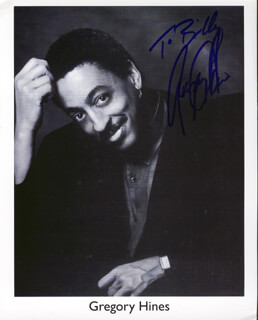 GREGORY HINES - AUTOGRAPHED INSCRIBED PHOTOGRAPH
