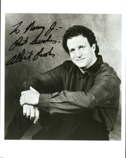 Autographs: ALBERT BROOKS - INSCRIBED PHOTOGRAPH SIGNED
