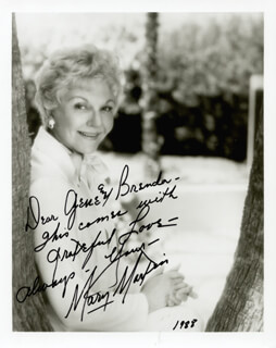 MARY MARTIN - AUTOGRAPHED INSCRIBED PHOTOGRAPH 1988