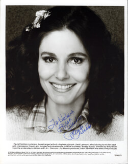 PAULA PRENTISS - INSCRIBED PRINTED PHOTOGRAPH SIGNED IN INK