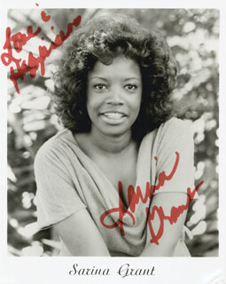 SARINA GRANT - AUTOGRAPHED SIGNED PHOTOGRAPH