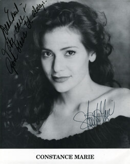 CONSTANCE MARIE - INSCRIBED PRINTED PHOTOGRAPH SIGNED IN INK
