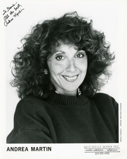 ANDREA MARTIN - AUTOGRAPHED INSCRIBED PHOTOGRAPH