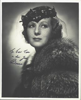 BINNIE BARNES - AUTOGRAPHED INSCRIBED PHOTOGRAPH