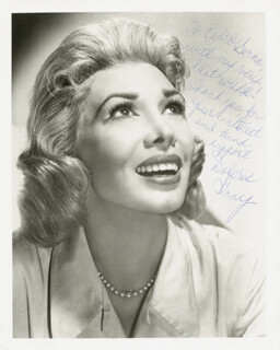 DOLORES GRAY - AUTOGRAPHED INSCRIBED PHOTOGRAPH