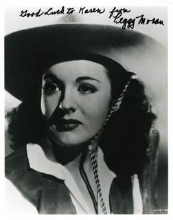 PEGGY MORAN - AUTOGRAPHED INSCRIBED PHOTOGRAPH