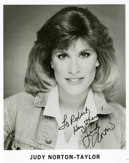 JUDY NORTON-TAYLOR - AUTOGRAPHED SIGNED PHOTOGRAPH