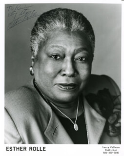 ESTHER ROLLE - AUTOGRAPHED SIGNED PHOTOGRAPH