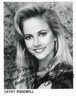 CATHY PODEWELL - AUTOGRAPHED INSCRIBED PHOTOGRAPH