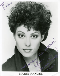 MARIA RANGEL - AUTOGRAPHED INSCRIBED PHOTOGRAPH