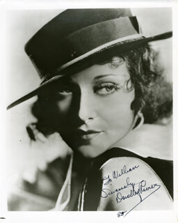 DOROTHY REVIER - AUTOGRAPHED INSCRIBED PHOTOGRAPH 1985