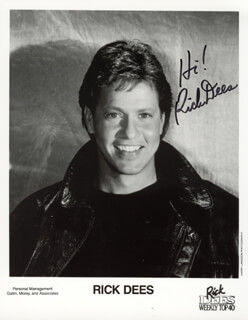RICK DEES - AUTOGRAPHED SIGNED PHOTOGRAPH