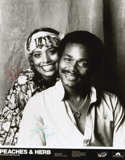 PEACHES & HERB - AUTOGRAPHED SIGNED PHOTOGRAPH CO-SIGNED BY: PEACHES & HERB (HERB FAME), PEACHES & HERB (LINDA GREENE)