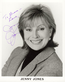 JENNY JONES - AUTOGRAPHED INSCRIBED PHOTOGRAPH