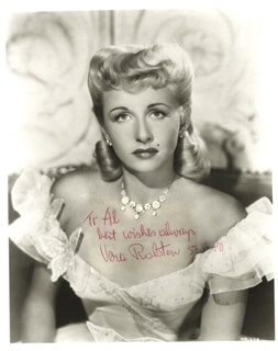 VERA H. RALSTON - AUTOGRAPHED INSCRIBED PHOTOGRAPH 05/05/1980