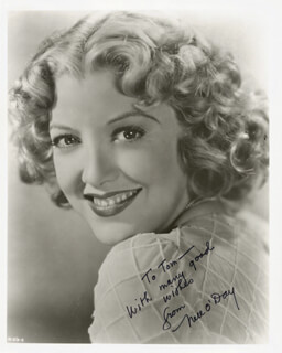 NELL O'DAY - AUTOGRAPHED INSCRIBED PHOTOGRAPH