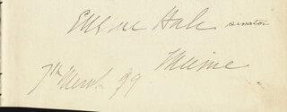 NELSON DINGLEY JR. - AUTOGRAPH 03/07/1899 CO-SIGNED BY: EUGENE HALE