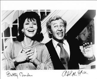 ADOLPH GREEN - AUTOGRAPHED SIGNED PHOTOGRAPH CO-SIGNED BY: BETTY COMDEN