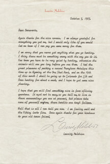 LAURITZ MELCHIOR - TYPED LETTER SIGNED 10/05/1965
