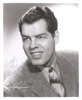 GLENN MILLER BAND (TEX BENEKE) - AUTOGRAPHED SIGNED PHOTOGRAPH