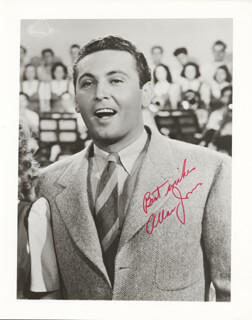 ALLAN JONES - AUTOGRAPHED SIGNED PHOTOGRAPH