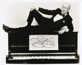 SAMMY CAHN - AUTOGRAPHED SIGNED PHOTOGRAPH 1989