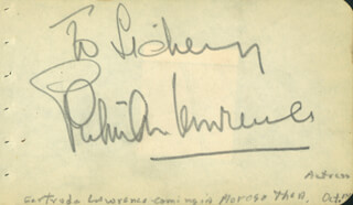 GERTRUDE LAWRENCE - INSCRIBED SIGNATURE 10/14