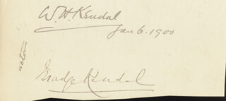 MADGE KENDAL - CLIPPED SIGNATURE 01/06/1900 CO-SIGNED BY: WILLIAM H. KENDAL, REAR ADMIRAL HENRY BOYLE TOWNSHEND SOMERVILLE