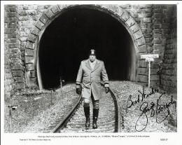 GEORGE KENNEDY - PRINTED PHOTOGRAPH SIGNED IN INK