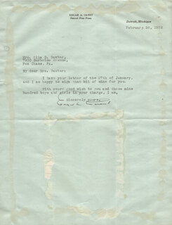 EDGAR A. GUEST - TYPED LETTER SIGNED 02/02/1932