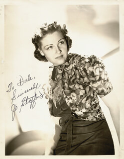 JO STAFFORD - AUTOGRAPHED SIGNED PHOTOGRAPH