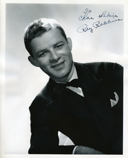 RAY ROBBINS - AUTOGRAPHED INSCRIBED PHOTOGRAPH
