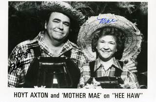 Autographs: HOYT AXTON - PRINTED PHOTOGRAPH SIGNED IN INK CO-SIGNED BY: MAE BOREN MOTHER MAE AXTON