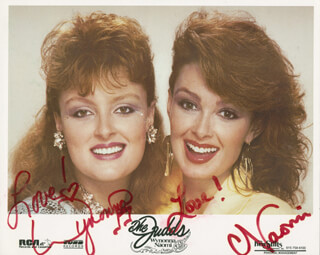 JUDDS - AUTOGRAPHED SIGNED PHOTOGRAPH CO-SIGNED BY: THE JUDDS (NAOMI JUDD), THE JUDDS (WYNONNA JUDD)