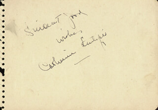 CATHERINE LITTLEFIELD - AUTOGRAPH SENTIMENT SIGNED