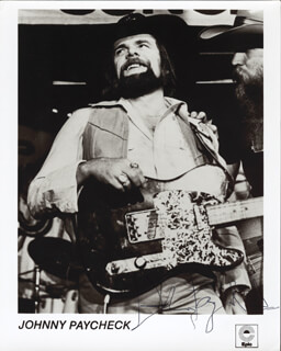 JOHNNY PAYCHECK - AUTOGRAPHED SIGNED PHOTOGRAPH