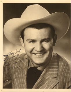 TEX WILLIAMS - AUTOGRAPHED INSCRIBED PHOTOGRAPH