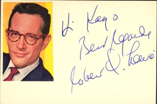 ROBERT Q. LEWIS - AUTOGRAPH NOTE SIGNED