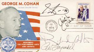 SAMMY CAHN - FIRST DAY COVER SIGNED CO-SIGNED BY: ART GARFUNKEL, CHICK (ARMANDO) COREA, RICHARD ADLER