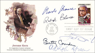 CHARLES STROUSE - FIRST DAY COVER SIGNED CO-SIGNED BY: RALPH BLANE, BETTY COMDEN, HAL DAVID, ADOLPH GREEN