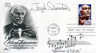 JOSEPH SCHWANTNER - AUTOGRAPH MUSICAL QUOTATION SIGNED